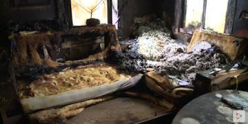 Комнаты были полностью заполнены едким дымом