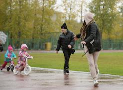 Мамы и папы проявляли себя не менее активно, чем юные спортсмены