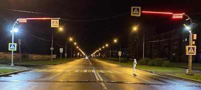 Дождливыми осенними вечерами пешеходы смогут безопаснее переходить дорогу