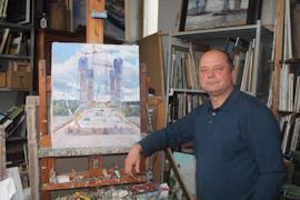 Антон Иоганн в мастерской
