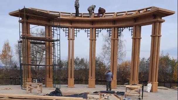 Строительство набережной в Белозерске выходит на финишную прямую
