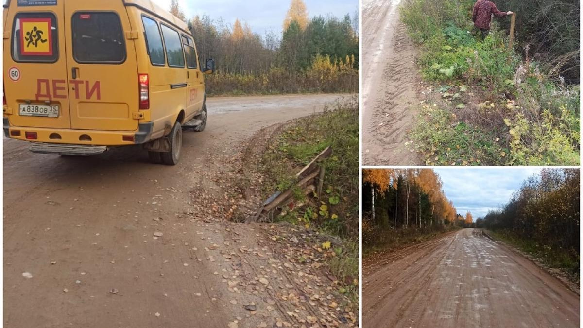 Жители деревни Лодейка  под Великим Устюгом боятся отправлять детей в школу по грунтовой дороге