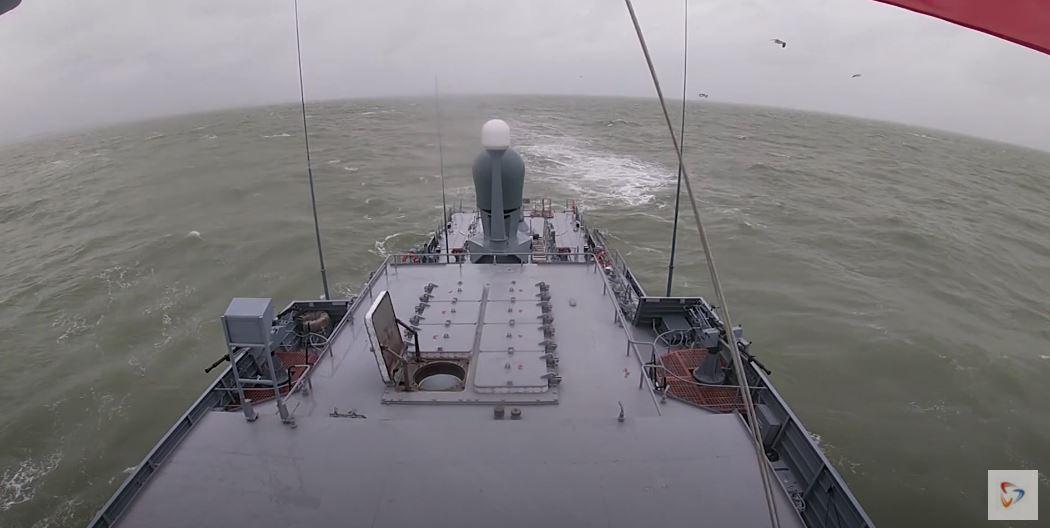 На период стрельбы морской полигон был закрыт для гражданского судоходства