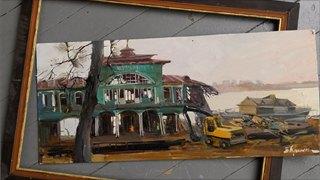 Как череповецкие художники писали речной вокзал— «живой» иразрушенный.