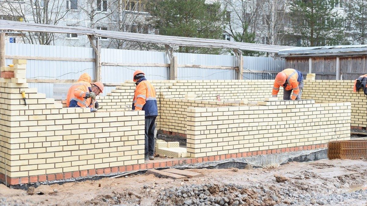 На80% выполнены работы построительству детского сада наул. Ярославской