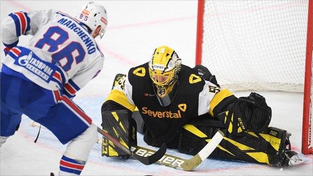 «Северсталь» упустила победу вматче против СКА вчемпионате КХЛ