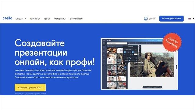 Быстрая презентация отсервиса crello.com