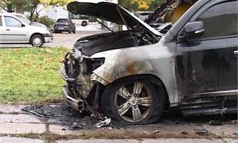 ВЗШК Череповца сгорел «Toyota Land Cruiser»