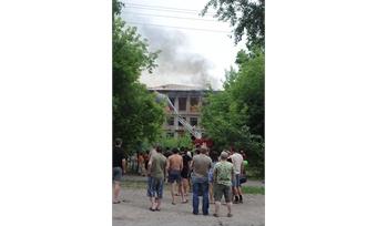 Здание интерната сгорело почти дотла