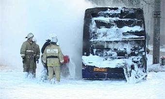 ВЧереповце загорелся автобус (ВИДЕО)