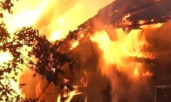 ВВашкинском районе вогне погиб человек