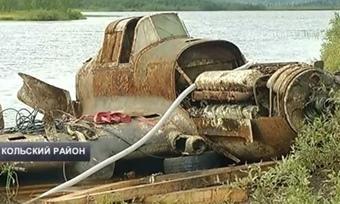 Содна озера вКольском районе подняли «летающий танк» времен Второй Мировой войны