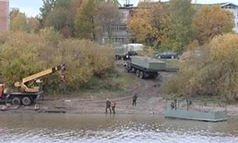 Понтонную переправу через реку Вологда убрали