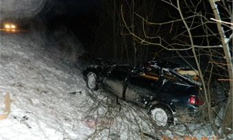Молодой водитель оказался вреанимации после ДТП под Грязовцем