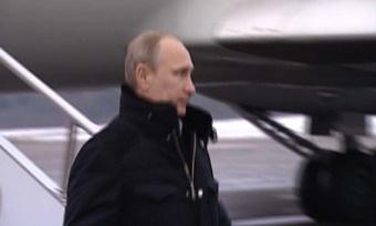 Владимир Путин прибыл вЧереповец ВИДЕО