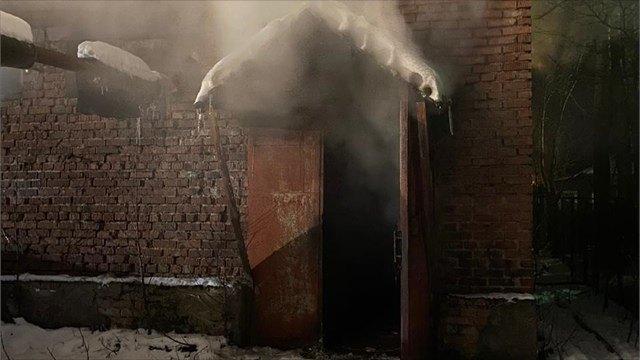 Пожар произошёл наводозаборе Сокольской тепловой компании