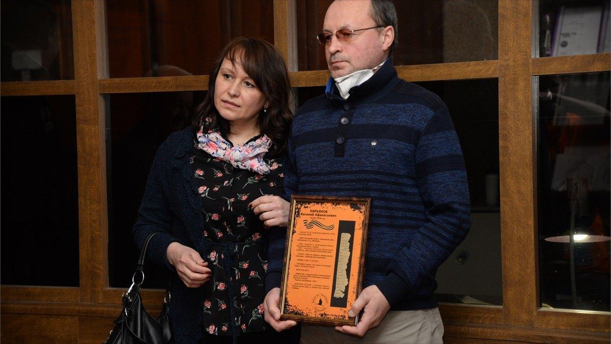 Солдатский медальон павшего воина передали семье