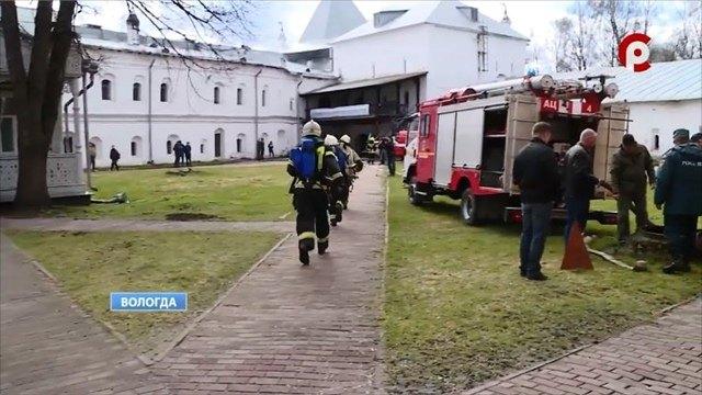 Учения пожарных прошли вЮго-западной башне Кремля вВологде