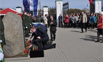 Вгороде прошел митинг умемориала чернобыльцам