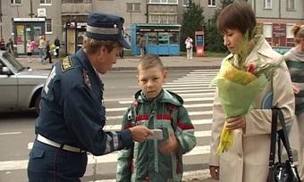 Безопасность дорожного движения стала первым уроком учереповецких первоклашек