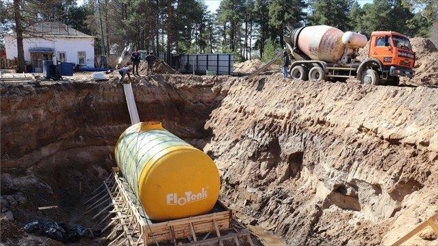 Работы помодернизации системы водоснабжения вУстье выполнены наполовину