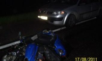 Водитель скутера погиб под колесами иномарки