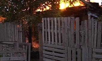 Под Череповцом вогне погиб мужчина