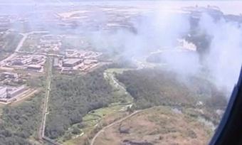 ВЧереповецком районе горит лес