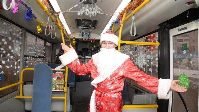 Трамваи иавтобусы зажглись, как елки