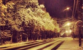 Вологду завалило снегом, аквечеру возможен гололед