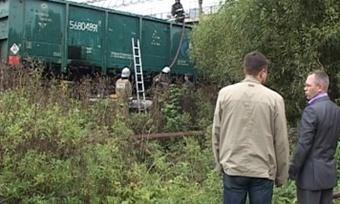 Начереповецкой железнодорожной станции загорелась сера