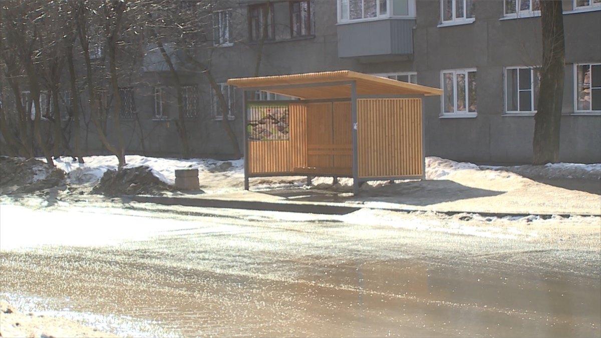 Работы поустановке автобусных павильонов продолжатся вЧереповце