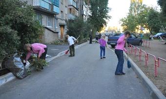 Два миллиона исовместные усилия жильцов, чтобы двор стал уютным