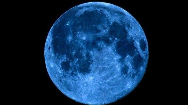 Сегодня внебе можно увидеть «голубую Луну»