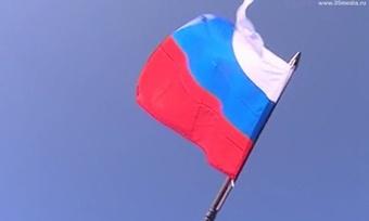 Десятки флагов вознеслись над площадью Революции вВологде